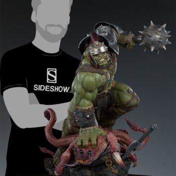 Gladiator Hulk Maquette scale shot with silhouette man reference