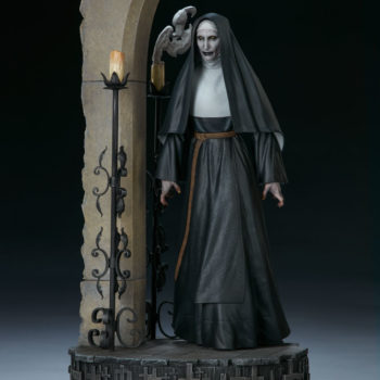 The Nun Statue from the Conjuring Universe Turn View 1