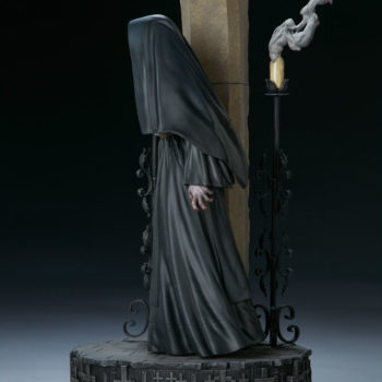 The Nun Statue from the Conjuring Universe Side View Turn