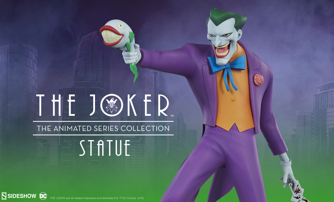 The Joker Statue Animated Series Collection Sideshow