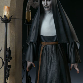 The Nun Statue from the Conjuring Universe Close Up on Valak 2