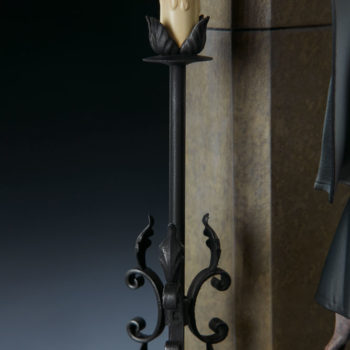 The Nun Statue from the Conjuring Universe Candelabra Detail