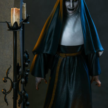 The Nun Statue from the Conjuring Universe- Valak Dramatic Shot 4