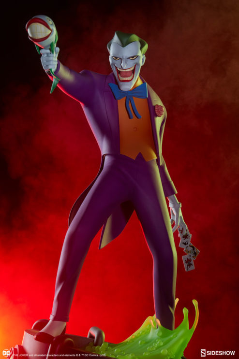 The Joker Statue- Animated Series Collection Dramatic Lit Shot 1