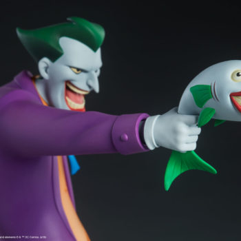 The Joker Statue Holding Out a Laughing Fish- Animated Series Collection