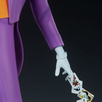 The Joker Statue with Joker Cards in Hand- Animated Series Collection