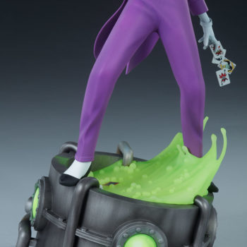 The Joker Statue- Animated Series Collection Base Close Up with Acid Vat