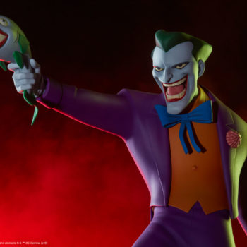 The Joker Statue- Animated Series Collection Dramatic Lit Shot 3