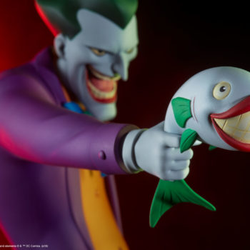 The Joker Statue- Animated Series Collection Joker Fish Closeup