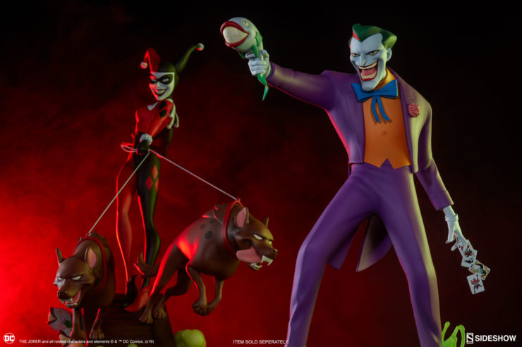 The Joker Statue and the Harley Quinn Statue- Animated Series Collection