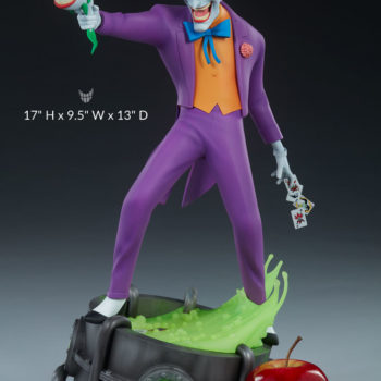 "The Joker Statue- Animated Series Collection Measurements- 17"" H x 9.5"" W x 13"" D"