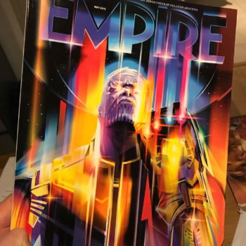 Thanos: Infinity War Empire Magazine Subscriber Exclusive Cover, Magazine in Hand