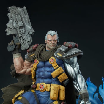 Cable Premium Format™ Figure Detail Shot of Upper Torso and Heavy Artillery