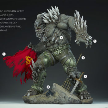 Doomsday Maquette Justice League Weapons Details