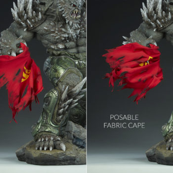 Doomsday Maquette Poseable Fabric Cape Comparison