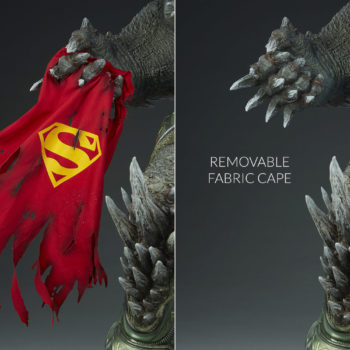 Doomsday Maquette Removable Fabric Cape Comparison
