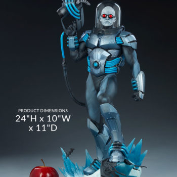 "Mr. Freeze Premium Format™ Figure Measurements- 24"" H x 10"" W x 11"" D"