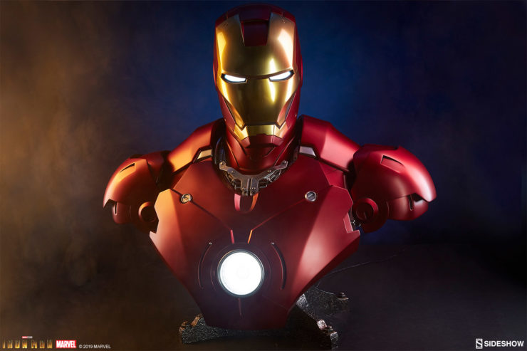 Iron Man Mark III Life-Size Bust Dramatic Shot