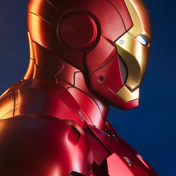 Iron Man Mark III Life-Size Bust Dramatic Side View Image