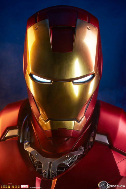 Iron Man Mark III Life-Size Bust Dramatic Portrait Close Up