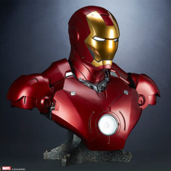 Iron Man Mark III Life-Size Bust 3/4 Turn Front View