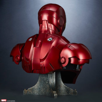 Iron Man Mark III Life-Size Bust 3/4 Turn View From Back