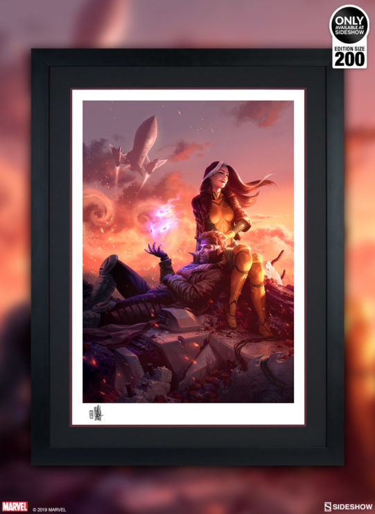 Share a Mutant Moment with the Rogue & Gambit Fine Art Print by Fabian Schlaga