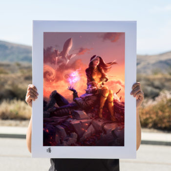 Unframed Rogue & Gambit Fine Art Print by Fabian Schlaga Environment Shot