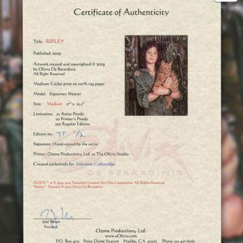 Ripley Fine Art Print by Olivia De Berardinis Certificate of Authenticity