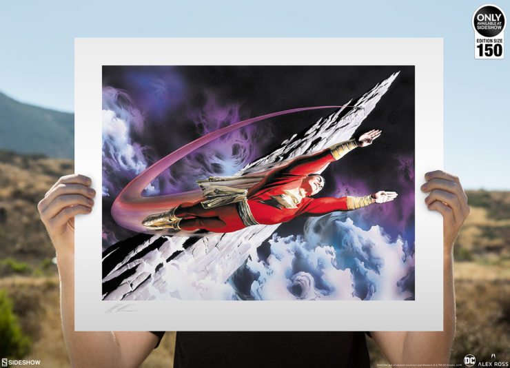 SHAZAM! The World's Mightiest Mortal Fine Art Lithograph by Alex Ross