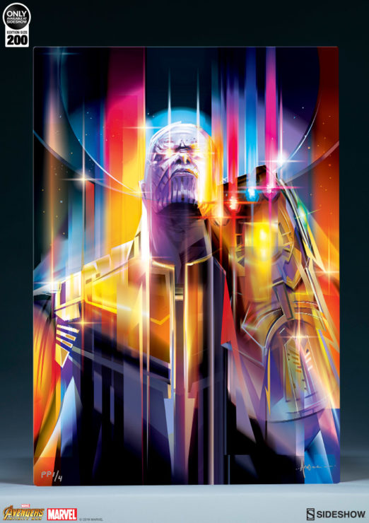 Sample Shot of the Thanos: Infinity War HD Aluminum Metal Print by Orlando Arocena