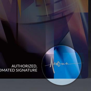 Autopen Signature Closeup for Thanos: Infinity War HD Aluminum Metal Print by Orlando Arocena