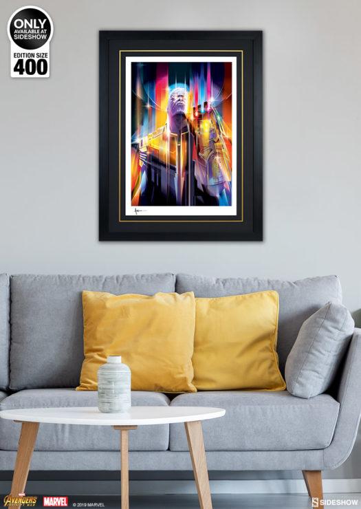 Black Framed Environment Shot of Thanos: Infinity War Fine Art Print by Orlando Arocena