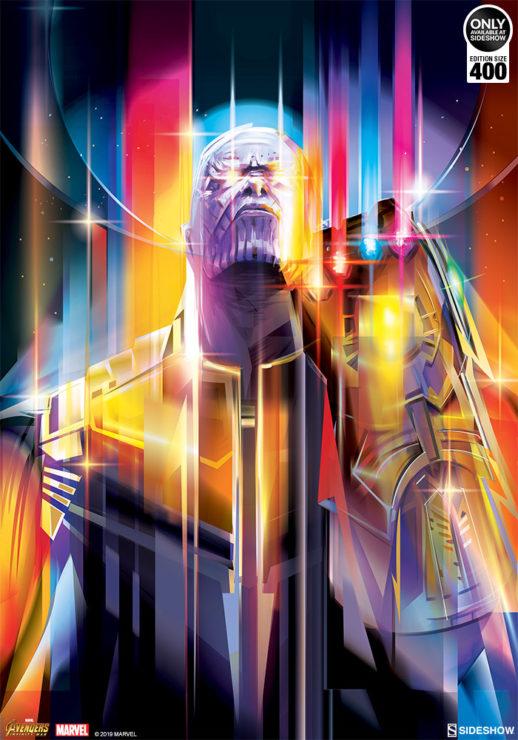 Full Illustration of Thanos: Infinity War Fine Art Print by Orlando Arocena