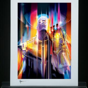 Unframed Edition Thanos: Infinity War Fine Art Print by Orlando Arocena