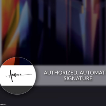 Authorized, Automated Pencil Signature on Unframed Thanos: Infinity War Fine Art Print by Orlando Arocena