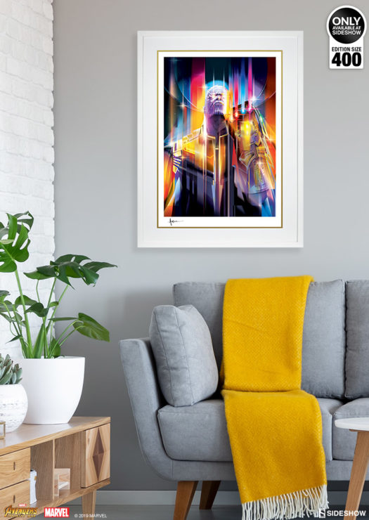 White Framed Environment Shot of Thanos: Infinity War Fine Art Print by Orlando Arocena