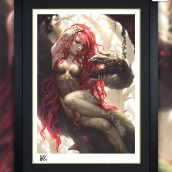 Poison Ivy Fine Art Print by Kendrick Lim Black Framed Sample