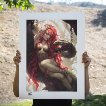 Poison Ivy Fine Art Print by Kendrick Lim Unframed Scale Reference