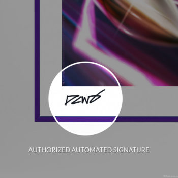 The Flash Fine Art Print by Derrick Chew Autopen Signature on White Frame