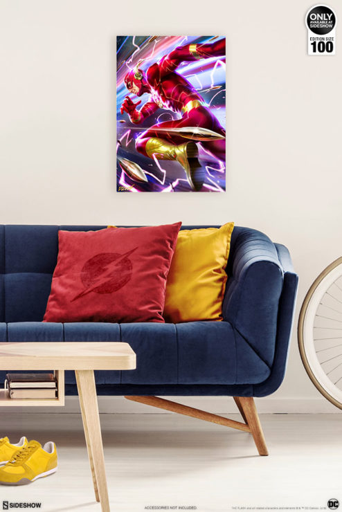 The Flash HD Aluminum Metal Print by Derrick Chew Environment Shot