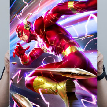 The Flash HD Aluminum Metal Print by Derrick Chew Scale Shot