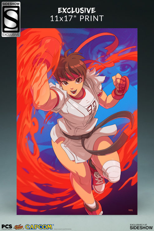 Sakura Gym Statue from PCS Collectibles- Street Fighter Exclusive Edition Art Print
