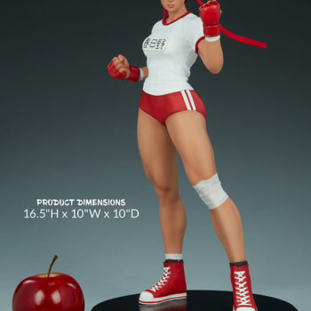 """Sakura Gym Statue from PCS Collectibles- Street Fighter Height Scale Shot- 16.5"""""""