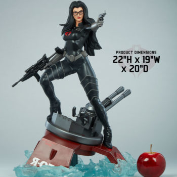 "Dimensions for the Baroness 1:4 Scale Statue from PCS Collectibles- 22"" H x 19"" W x 20"" D"