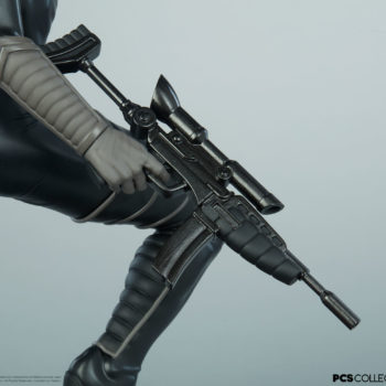 Closeup on the weapons on the Baroness 1:4 Scale Statue from PCS Collectibles