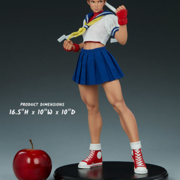 Sakura Classic Statue from PCS Collectibles- Street Fighter Scale Shot
