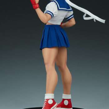 Sakura Classic Statue from PCS Collectibles- Street Fighter Side View