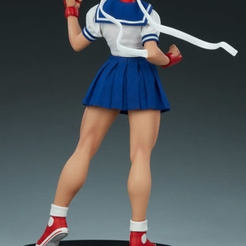 Sakura Classic Statue from PCS Collectibles- Street Fighter Back View