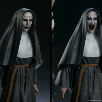 The Nun Statue from the Conjuring Universe- Exclusive Edition Side by Side Portrait Comparison
